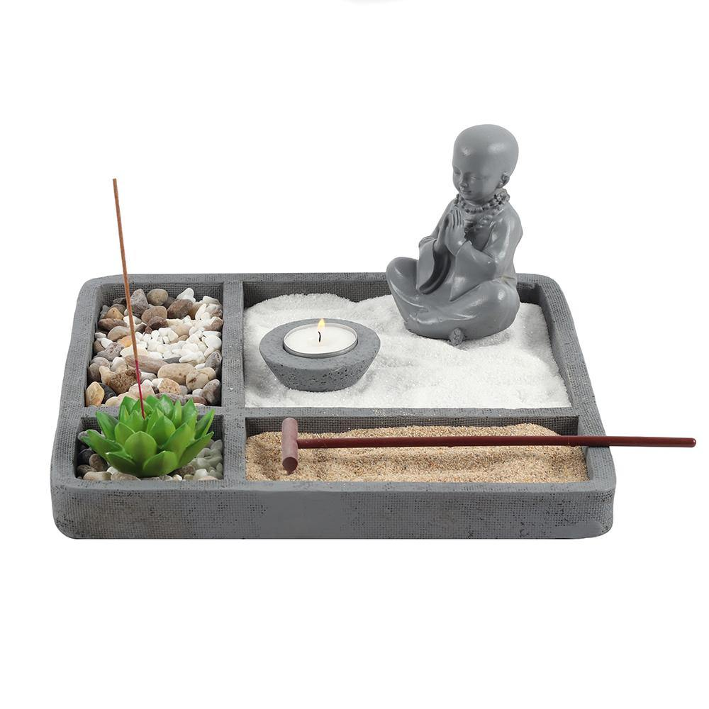 27cm Square Zen Meditation Garden - Angelo's Outlet Ltd