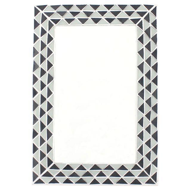 Triangle Pattern Monochrome Mirror - Angelo's Outlet Ltd