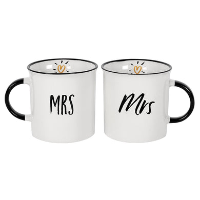 Mrs and Mrs Mug Set - Angelo's Outlet Ltd