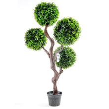 Load image into Gallery viewer, Artificial Large 90cm UV Boxwood Topiay Tree - Angelo's Outlet Ltd