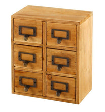 Load image into Gallery viewer, Storage Drawers (6 drawers) 23 x 15 x 27cm