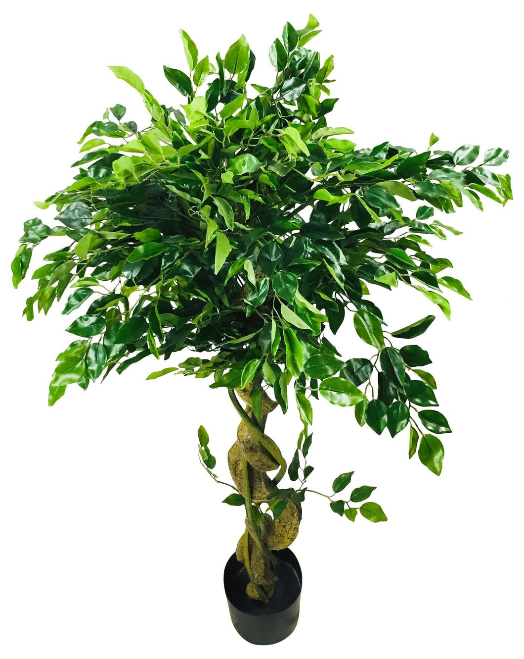 Artificial Ficus Tree With Twisted Trunk 137cm - Angelo's Outlet Ltd