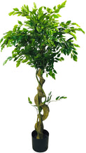 Load image into Gallery viewer, Artificial Ficus Tree With Twisted Trunk 137cm - Angelo's Outlet Ltd