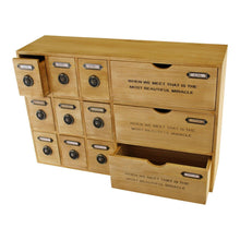Load image into Gallery viewer, 12 Drawer Rustic Storage Unit, Trinket Drawers - Angelo's Outlet Ltd