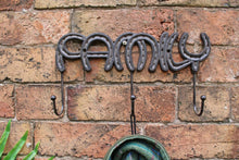 Load image into Gallery viewer, Rustic Cast Iron Wall Hooks, Family - Angelo's Outlet Ltd
