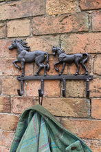 Load image into Gallery viewer, Rustic Cast Iron Wall Hooks, Two Horses - Angelo's Outlet Ltd