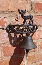 Load image into Gallery viewer, Rustic Cast Iron Wall Bell, Reindeer Standing