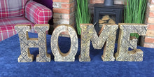 Load image into Gallery viewer, Hand Carved Wooden Geometric Letters Home