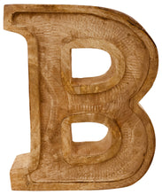 Load image into Gallery viewer, Hand Carved Wooden Embossed Letter B