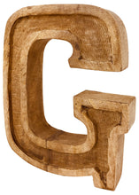 Load image into Gallery viewer, Hand Carved Wooden Embossed Letter G
