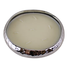 Load image into Gallery viewer, Silver Ceramic Bowl With 7 Wick Sandalwood Fragranced Candle