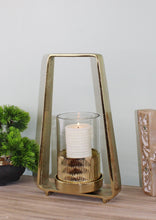 Load image into Gallery viewer, Gold Metal Candle Holder 34cm