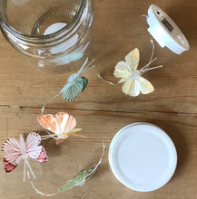 Load image into Gallery viewer, Butterfly Led Light Chain In Glass Jam Jar - Multicoloured - Angelo's Outlet Ltd