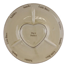 Load image into Gallery viewer, Heart Range Large Round Snack & Dip Plate 30cm