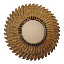 Load image into Gallery viewer, Bronze Effect Feather Frame Mirror - Angelo's Outlet Ltd