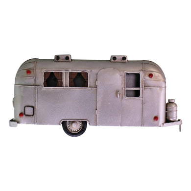 Wall Hanging Silver Metal Camper Decoration | Angelo's Outlet
