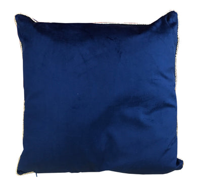 Deep Blue Velvet Cushion - Angelo's Outlet Ltd