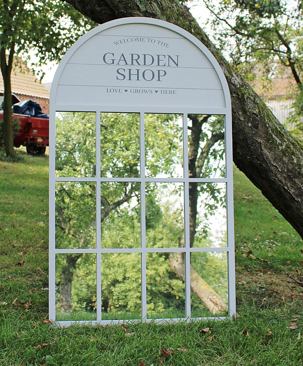 60x100cm Potting Shed Mirror, Grey - Angelo's Outlet Ltd