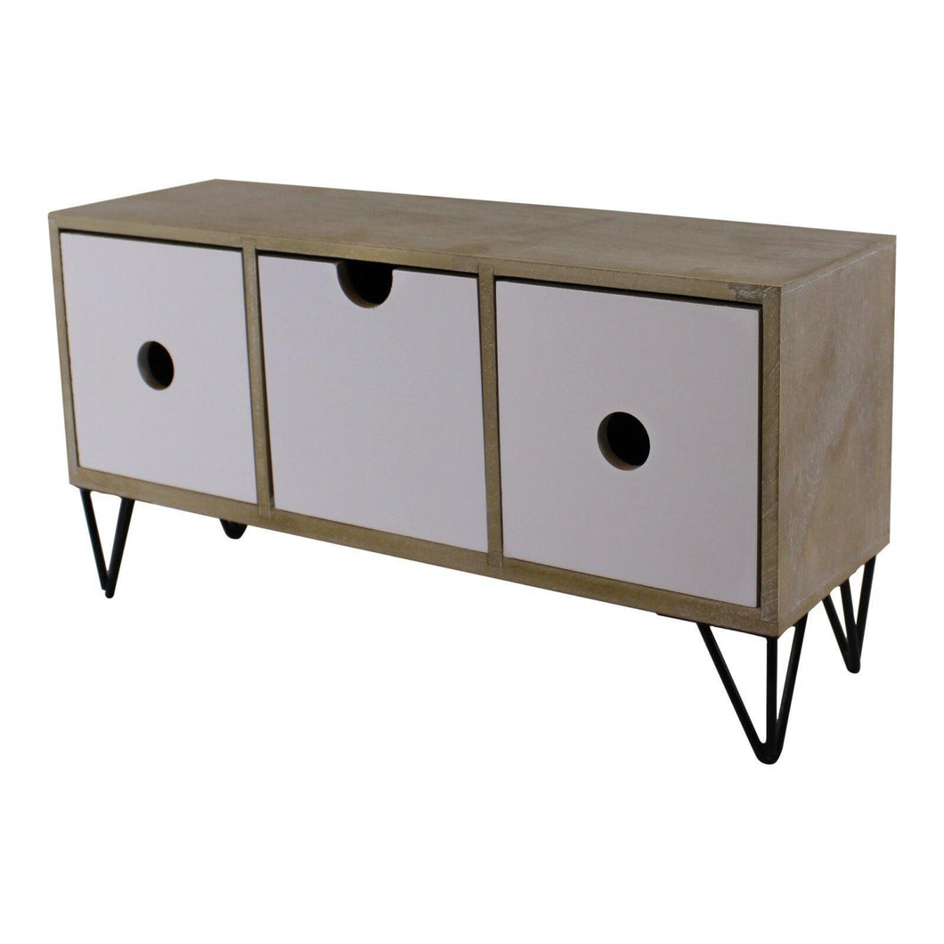 3 Drawer Trinket Unit With Wire Legs, Horizontal Style - Angelo's Outlet Ltd