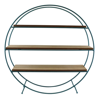 Teal Standing Wire Shelf Unit | Angelo's Outlet