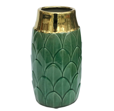 Art Deco Vase - Green - Angelo's Outlet Ltd