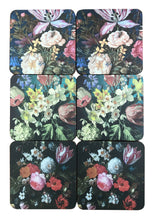 Load image into Gallery viewer, Pack Of Six Dutch Floral Coasters In Gift Box
