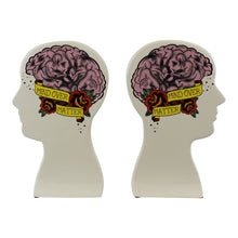 Load image into Gallery viewer, Ornamental Ceramic Phrenology Bookends