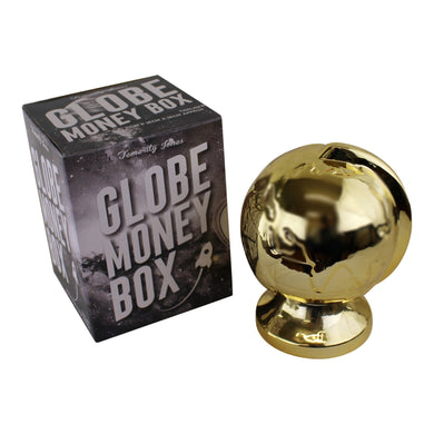 Metallic Gold Ceramic Globe Style Money Box | Angelo's Outlet
