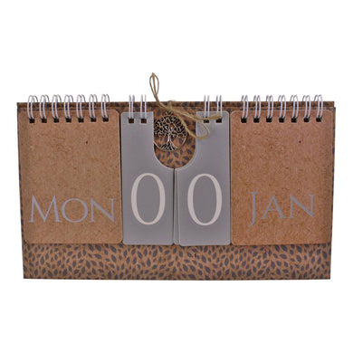 Tree Of Life Flip Freestanding Perpetual Calendar | Angelo's Outlet