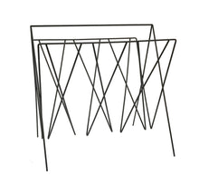 Load image into Gallery viewer, Black Wire Magazine Rack - Angelo's Outlet Ltd