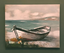 Load image into Gallery viewer, Wooden Boat Canvas - Red Boat