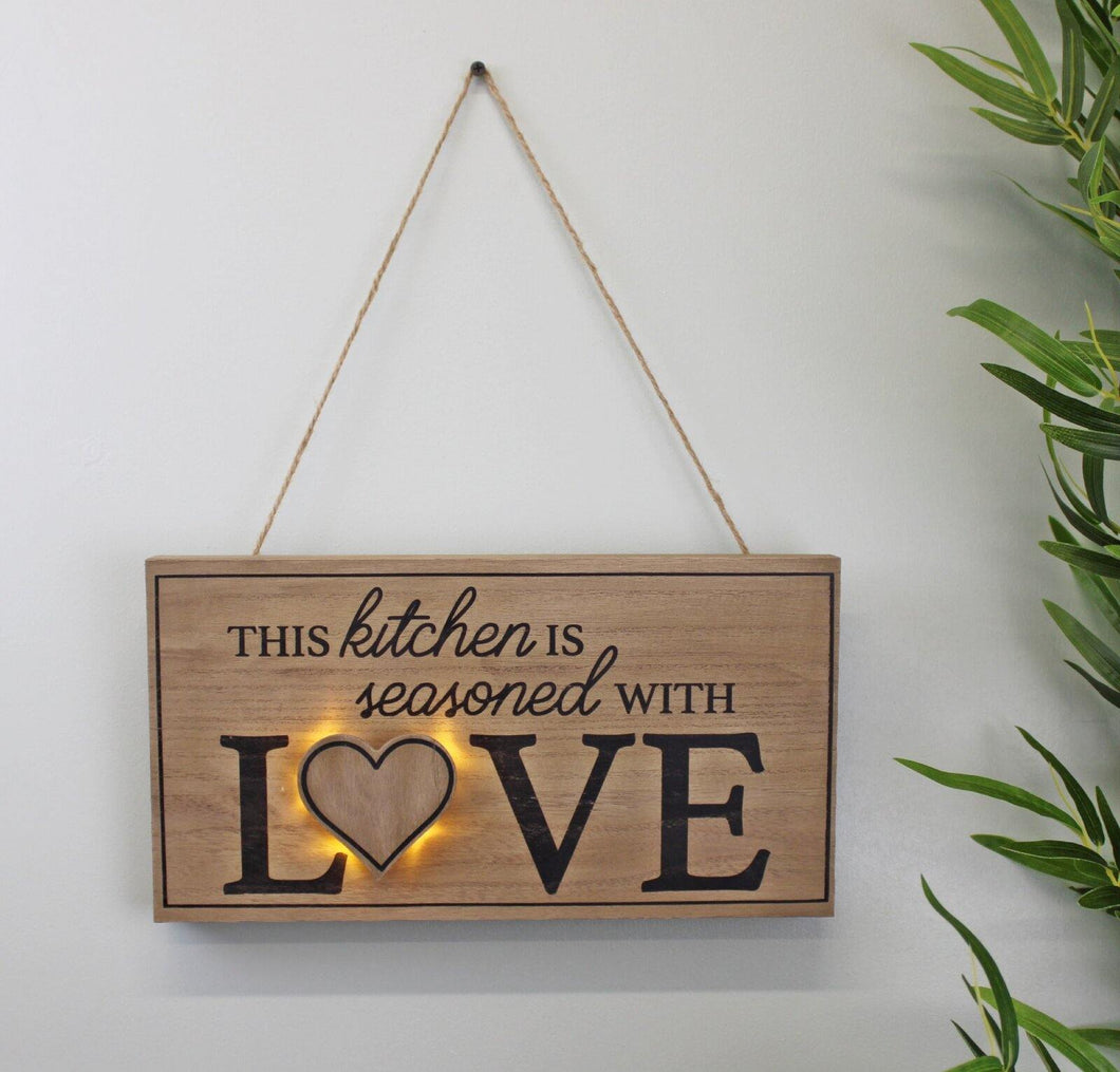 3D LED Kitchen Wall Hanging Plaque - Angelo's Outlet Ltd