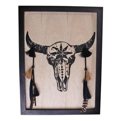 Skull Plaque Wall Decor, 40x30cm | Angelo's Outlet
