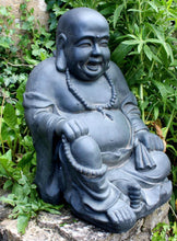 Load image into Gallery viewer, Stone Effect Laughing Buddha Statue