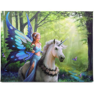 25x19cm Realm Of Enchantment Canvas Plaque by Anne Stokes - Angelo's Outlet Ltd
