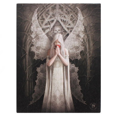 19x25cm Only Love Remains Canvas Plaque by Anne Stokes - Angelo's Outlet Ltd