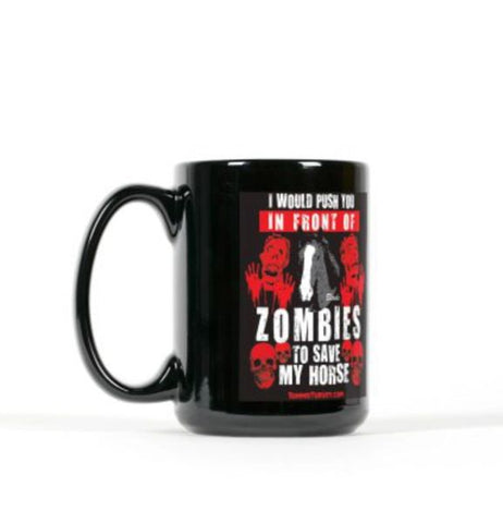 """Save My Horse"" Mustang Blade Zombie Coffee Mug"