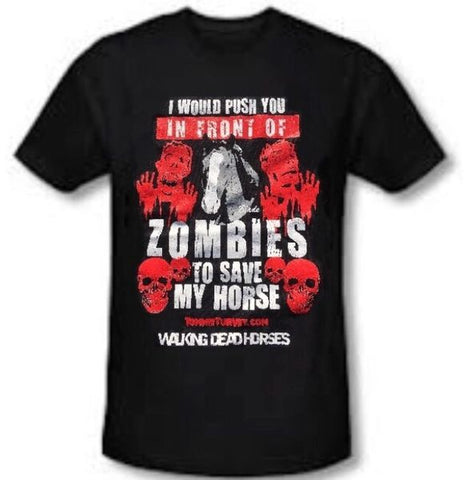 """Save My Horse"" Mustang Blade Zombie T-Shirt"