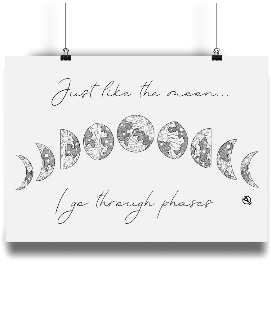 Just Like The Moon... - Eco Bamboo Art Print