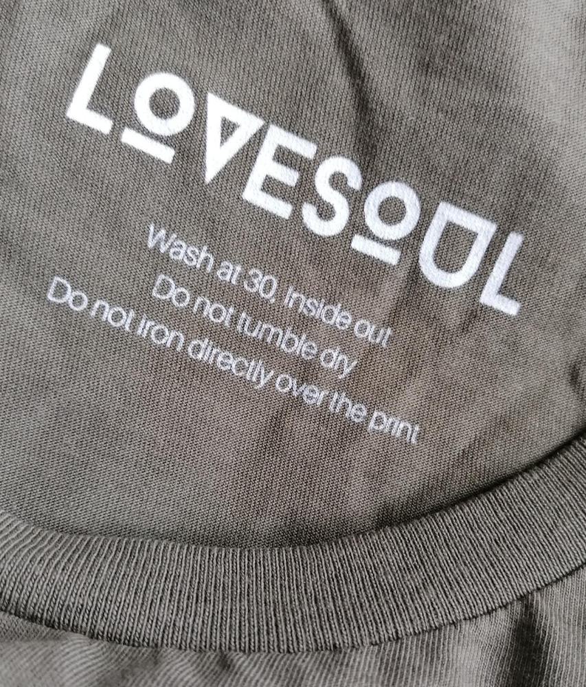 LoveSoul - 100% Organic Cotton Relaxed Fit Long Sleeve Tee