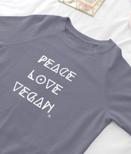 Laden Sie das Bild in den Galerie-Viewer, Peace Love Vegan - Organic & Recycled Relaxed Fit Sweatshirt