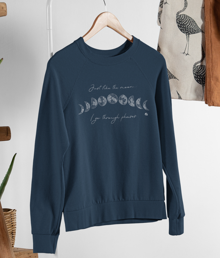 Just Like The Moon... - Organic & Recycled Relaxed Fit Sweatshirt