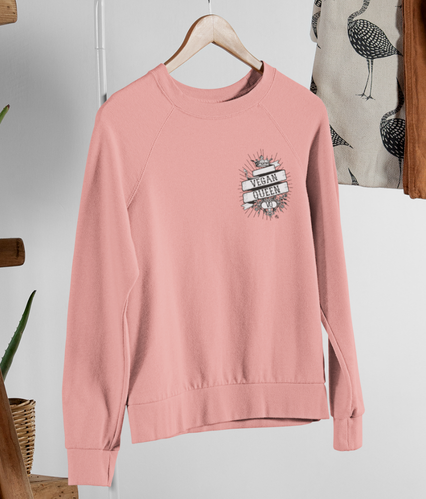 Vegan Queen - Organic & Recycled Relaxed Fit Sweatshirt