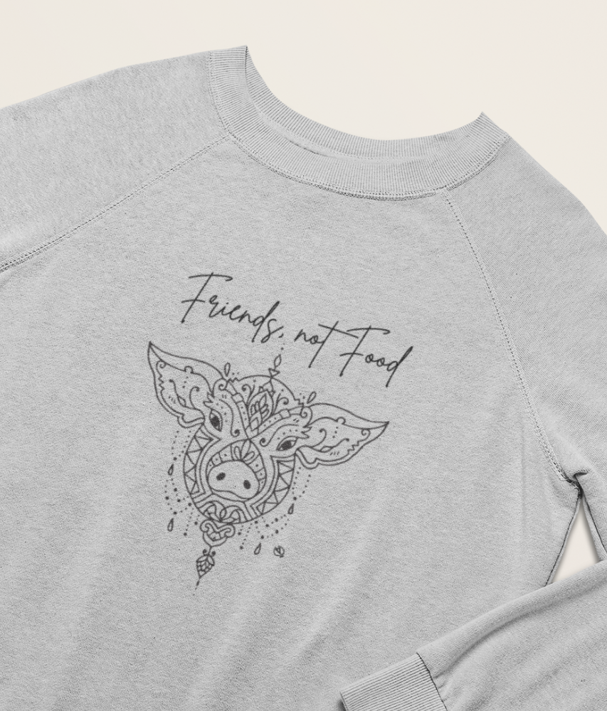Friends, Not Food - Organic & Recycled Relaxed Fit Sweatshirt