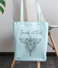 Load image into Gallery viewer, Friends, Not Food - 100% Organic Tote Bag