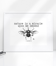 Charger l'image dans la galerie, Nature Is A Miracle - Eco Bamboo Art Print