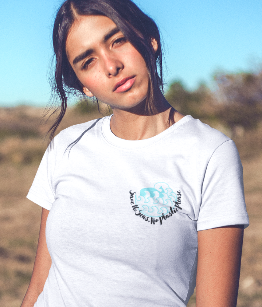 Save The Seas, No Plastic Please - 100% Organic Cotton Classic T-Shirt