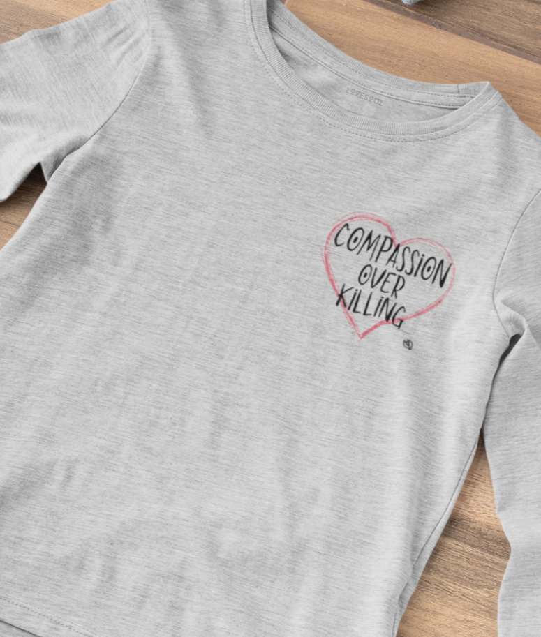 Compassion Over Killing - 100% Organic Cotton Classic Long Sleeve Tee