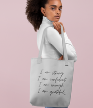 Load image into Gallery viewer, Self Love Affirmations - Organic & Recycled Tote Bag