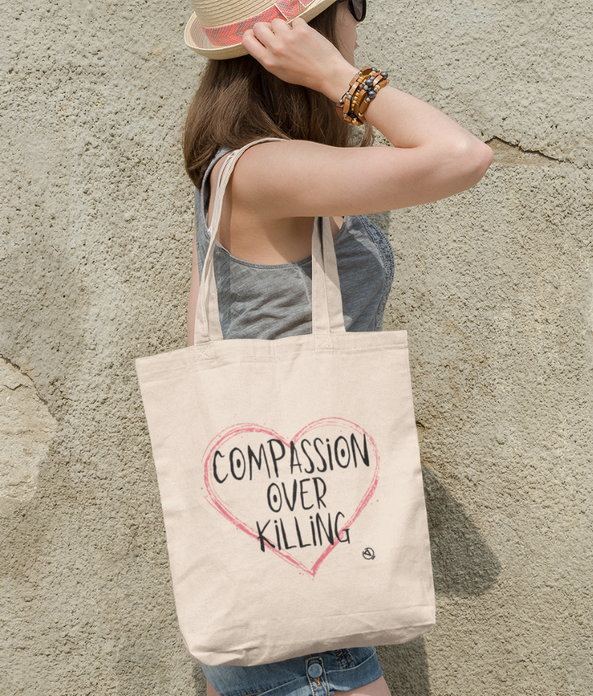 Compassion Over Killing - Organic & Recycled Tote Bag
